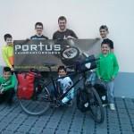 Portus Cycles - Fahrradführsorge - Markus mit den Kindern